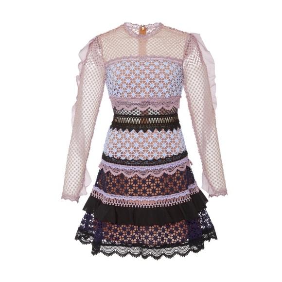 cfe813703f5d Self-Portrait Dresses | Nwt Self Portrait Bellis Lace Trim Dress ...